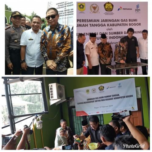 Peresmian Jaringan Gas Bumi Untuk Rumah Tangga di Kelurahan Karadenan Kecamatan Cibinong